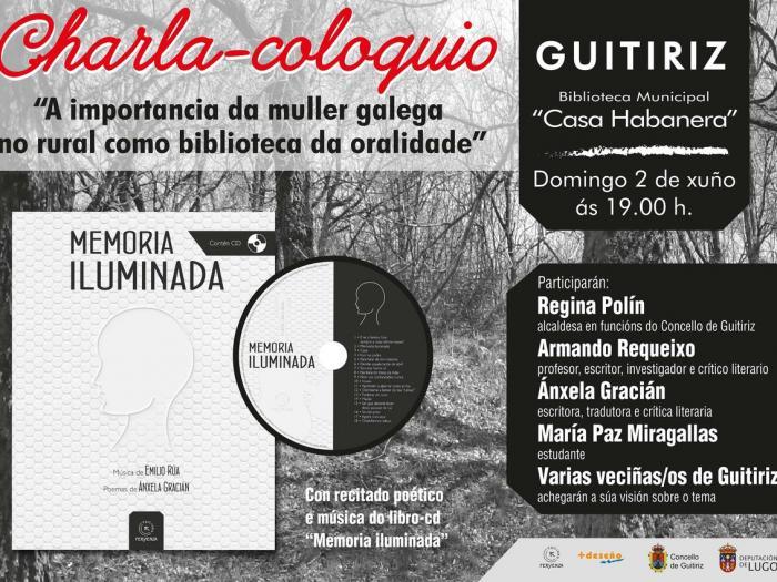 """CHARLA COLOQUIO """" A IMPORTANCIA DA MULLER GALEGA NO RURAL COMO BIBLIOTECA DA ORALIDADE"""""""