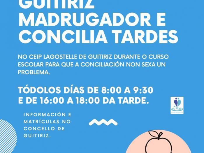 ABERTO O PRAZO DE GUITIRIZ MADRUGADORES E CONCILIA TARDE