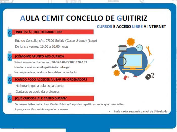 INFORMACIÓN AULA CEMIT CONCELLO DE GUITIRIZ
